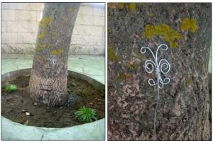 Mariposa realizada con alambre y alicates