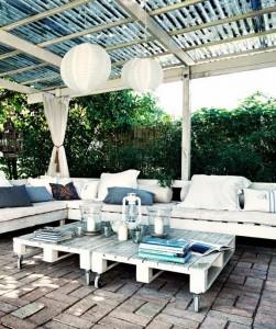 Muebles para terraza con palets